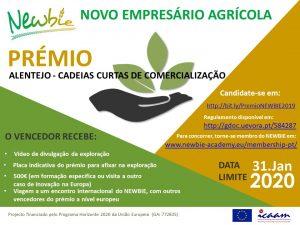 Projeto Europeu NEWBIE lança prémio para novos empresários Agrícolas